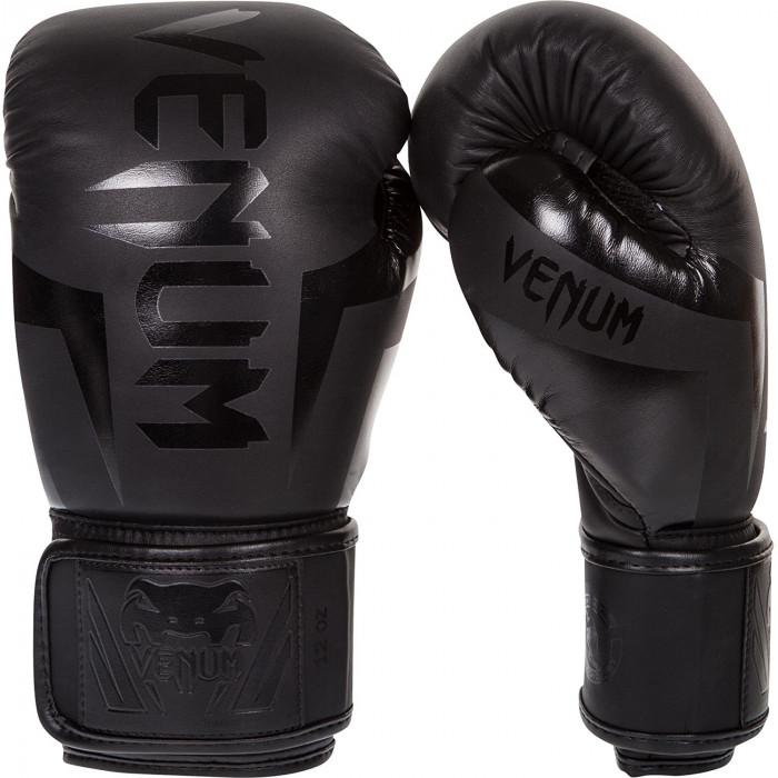 Боксерские перчатки Venum Elite Boxing Gloves Matte Black (1392-MB) 14 oz